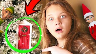Aubrey Found A SECRET Door to The North Pole! Is Our Elf On the Shelf In The Magical Door?