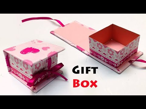 How To Make A Paper Gift Box with Lid | DIY Gift Box Ideas | Gift Box Making At Home