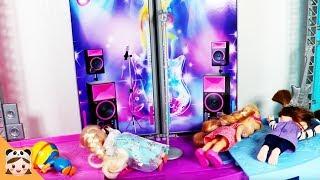 방탈출하기 시크릿 쥬쥬 콘서트장에 갇힌 콩순이 공주 인형 장난감 놀이 뽀로로 방탈출 상황극 Escape room | 보라미TV