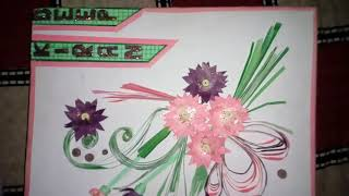 File cover craft with waste paper