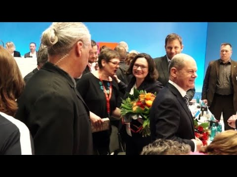 AFP news agency: German social Democrats elect Nahles as first female leader