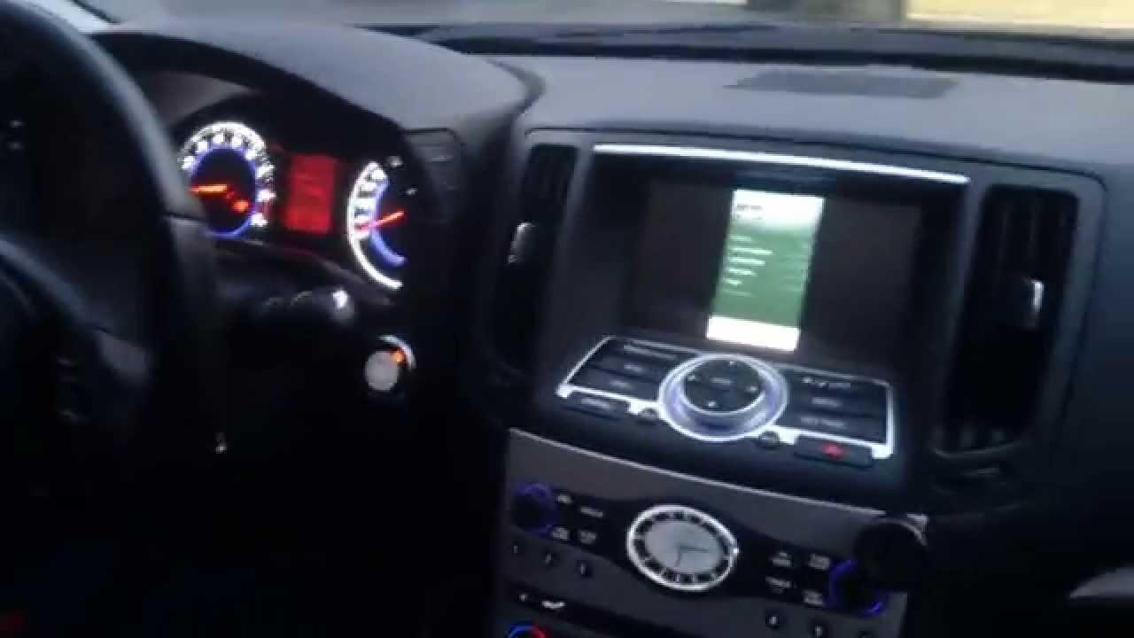 Infiniti G (2006-14)-установка блока для передачи информации с телефона на монитор автомобиля,+USB.
