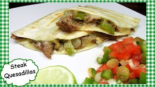 How To Make STEAK QUESADILLAS ~ Shaved Beef Quesadilla Recipe