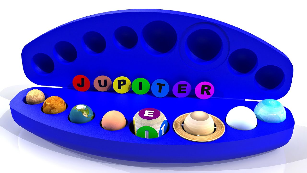 Box with Planets of the Solar System | Some Features of Planets | Spelling the name of the planets