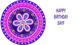 Sayf   Indian Designs - Happy Birthday
