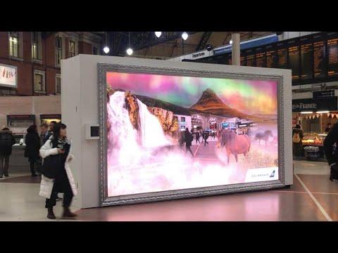 Icelandair augmented reality in London   Icelandair