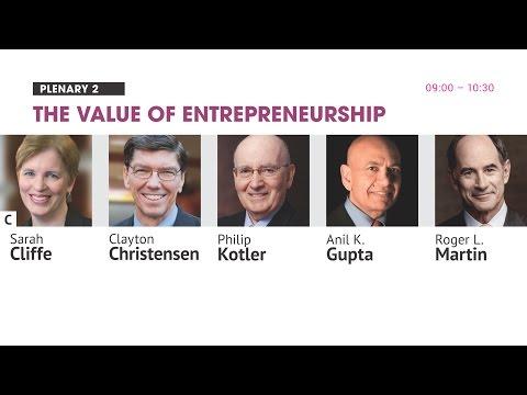 Day I Plenary 2: The value of Entrepreneurship