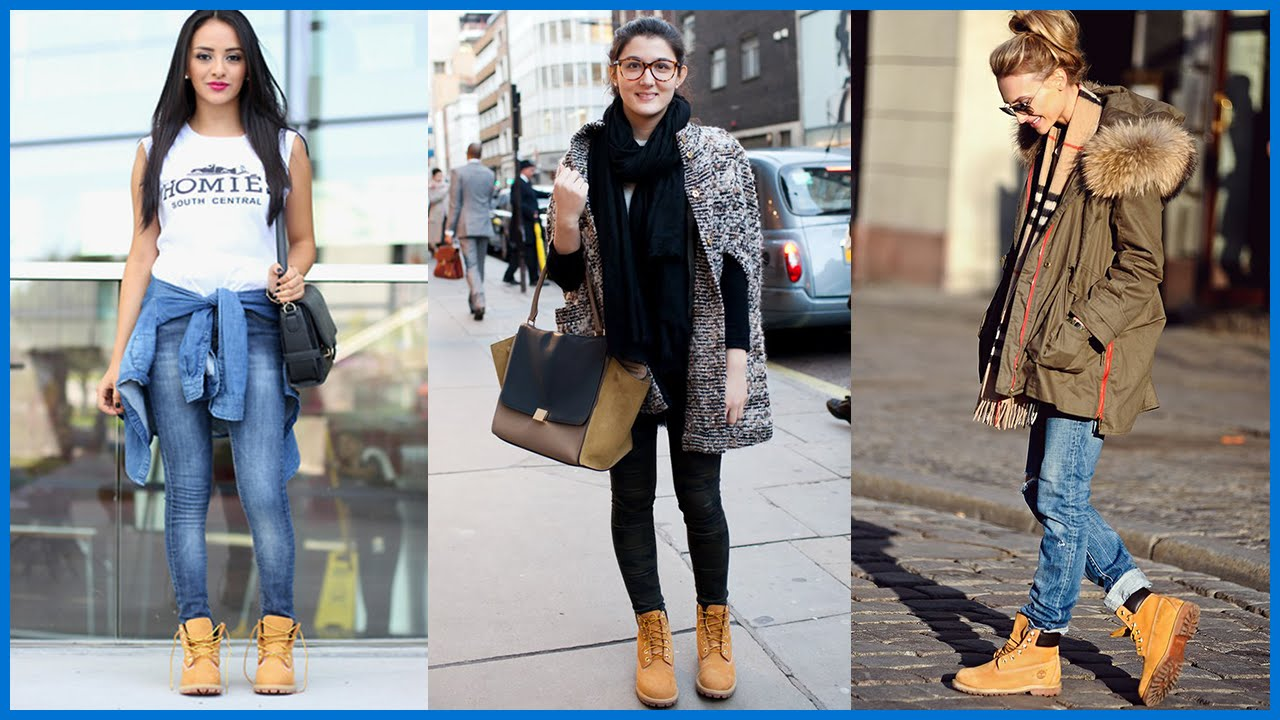How To Wear Timberland Boots For Girls Youtube