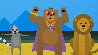 Медведь и Друзья - Развивающая песенка и мультик про животных - Мой голову!