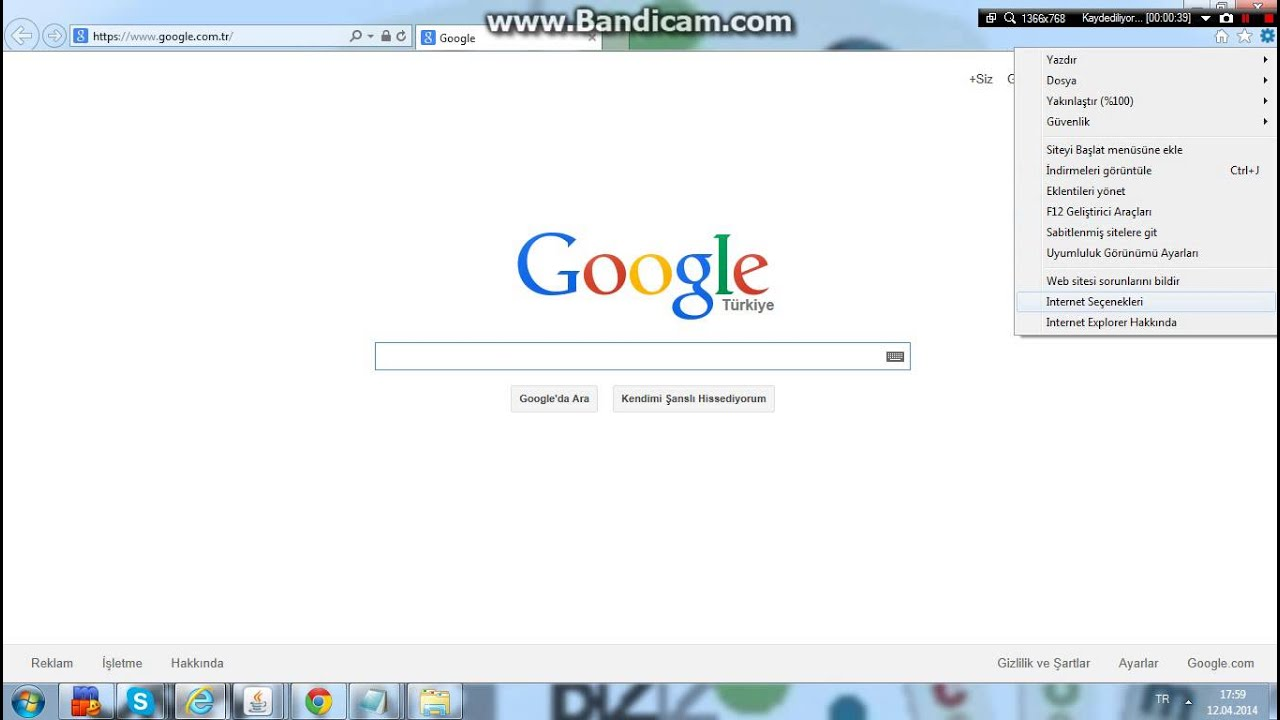 internet explorer gözatma geçmişine bakma
