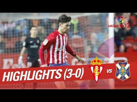 Resumen de Sporting de Gijón vs CD Tenerife (3-0)
