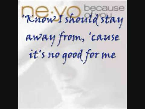 Ne Yo Because Of You Lyrics - YouTube