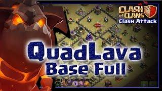 QUADLAVA CV9 :: BASE FULL :: LAYOUT ANTI-PT :: CLASH OF CLANS