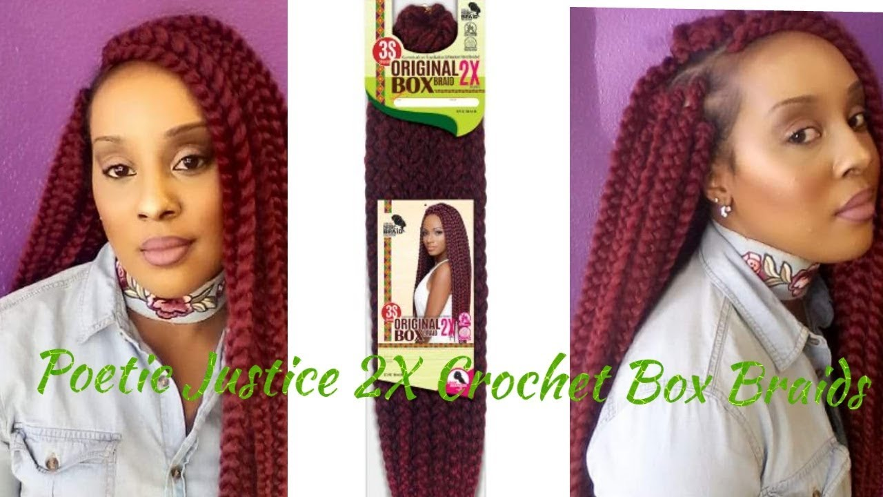 Review On 2x 24 Crochet Poetic Justice Box Braids By Eve Hair Youtube