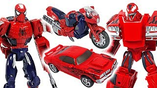 Top 10 Cars - Marvel Avengers Transformers Spider Man, Iron Man VS Carnage, Venom! Fight!! - DuDuPopTOY