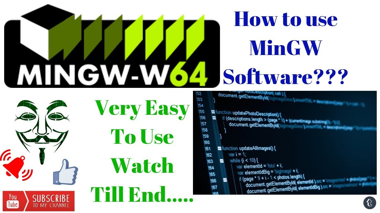How to compile C project using MinGW (GCC) compiler in Command Prompt [ZR  Techniques] |Just Click|