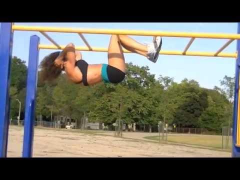 Upside Down Hanging Crunches - Susan Arruda Lower Ab Workout