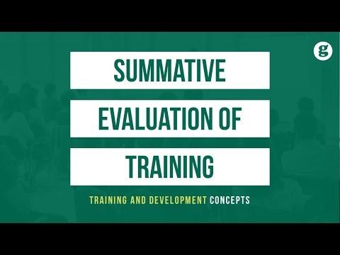 Summative Evaluation Of Training