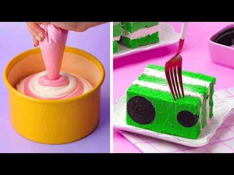 Perfect Chocolate Cake Decorating With Milk Cream | Easy Cake Decorating Ideas | So Yummy Cake