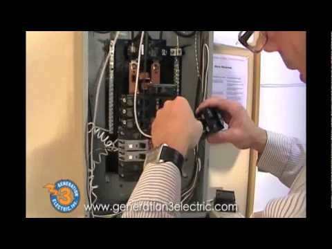 Installing 20amp breaker - YouTube
