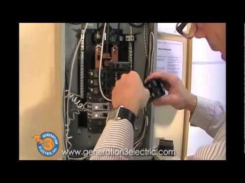 100 Amp Garage Service Wiring Diagram Installing 20amp Breaker Youtube