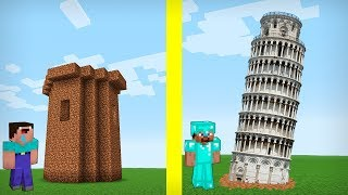 NOOB VS PRO TOWER BATTLE IN MINECRAFT