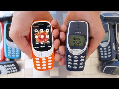 New Nokia 3310 Drop Test vs Old Nokia 3310!