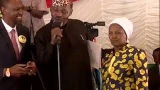 This cucu (celina) got uhuru laughing crazy at joseph kamaru burial service please subscribe to the