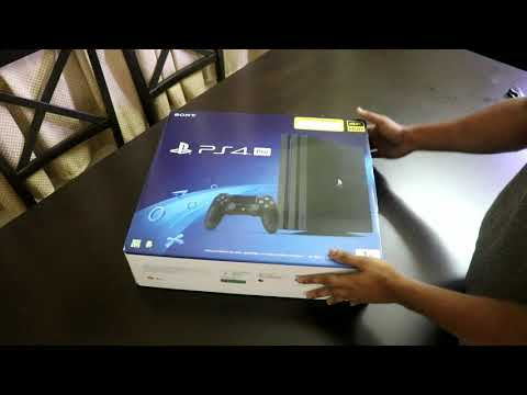 PS4 Pro Bundle Unboxing, God Of War, Last Of Us Remastered (two Controllers)