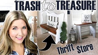 ⚫ THRIFT STORE MAKEOVER ⚫ TRASH TO TREASURE UPCYCLE