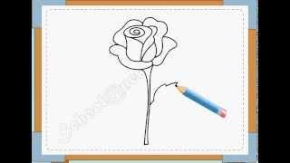BÉ HỌA SĨ - Thực hành tập vẽ 16: Vẽ hoa hồng