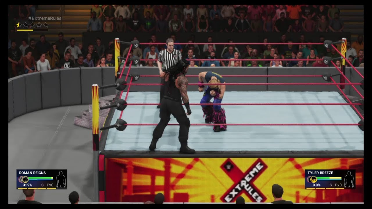 WWE 2K19 - Roman Reigns vs Tyler Breeze | PS4 Gameplay |
