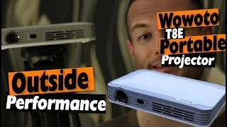 Portable Projector Outdoor Performance with the Wowoto T8e 1080p Portable DLP Projector