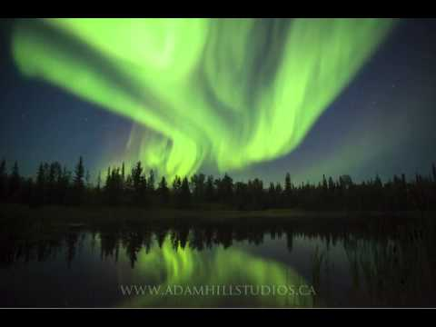 Auroral Display in Hay River, NWT