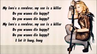 Madonna - Revolver Karaoke / Instrumental with lyrics on screen