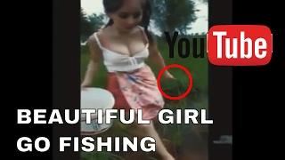 Beautiful Hot Girl Go Fishing | Beauty Girl Catch a Biggest Fish