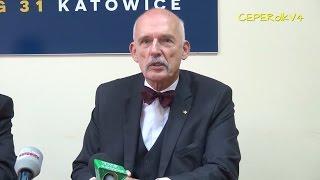 Mit globalnego ocieplenia - konferencja prasowa Janusza Korwin-Mikke (09.11.2015 Katowice)