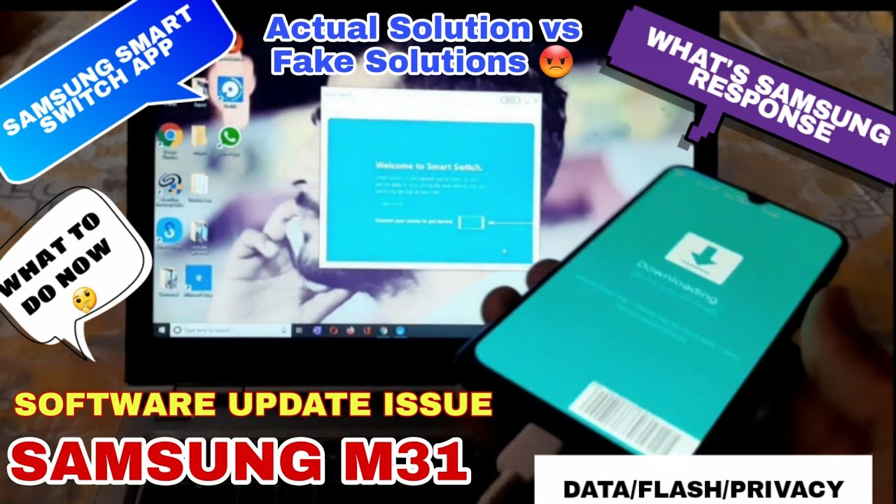 Samsung M31 Software Update Issue.Actual solution? Security Patch 1 April 2020. Samsung Smart Switch