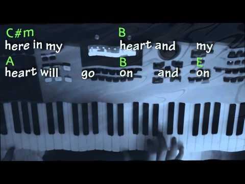 My Heart Will Go On Piano w/ Chords & Lyrics