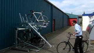 Cycle Parking - FalcoLevel Two Tier Cycle Parking Storage Unit