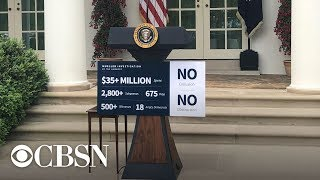 President Trump is making an impromptu announcement from the White House Rose Garden, live stream