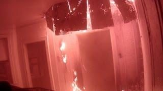 Helmet cam fire at 11 Farrand Park, Highland Park MI Vacant Apt building