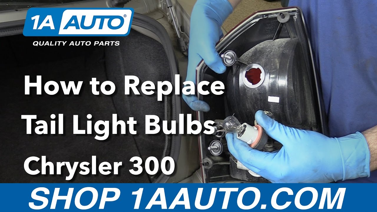 medium resolution of how to replace install tail light bulbs 2006 chrysler 300 buy parts from 1aauto com