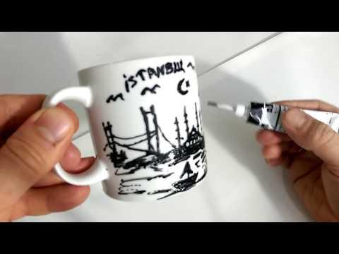 Bardak Boyama Videosu Istanbul Silueti Boyama Videolari Bardak