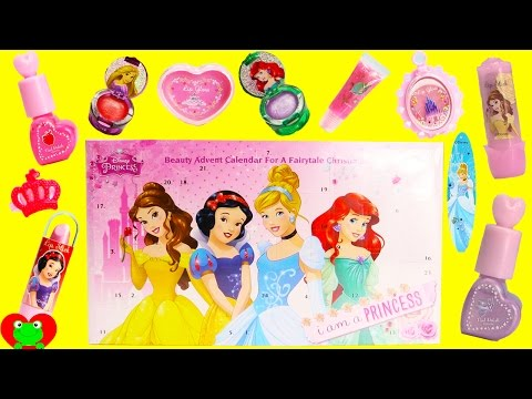 Disney Princess Beauty Advent Calendar 24 Surprises Lip Gloss and Nail Polish