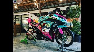 Modifikasi Kawasaki NINJA 250 Jari Jari, BAN CACING Part 2