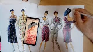 패션일러스트 . 패션유학,패션디자인 전공실기 .미국유학…