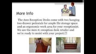 Ares Semi Circular Reception Desk