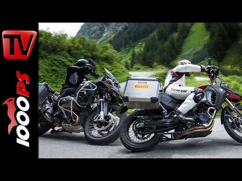 BMW GS 1200 Adventure vs GS 800 Adventure - Test in den Alpen