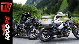 BMW GS 1200 Adventure vs GS 800 Adventure - Test in den Alpen